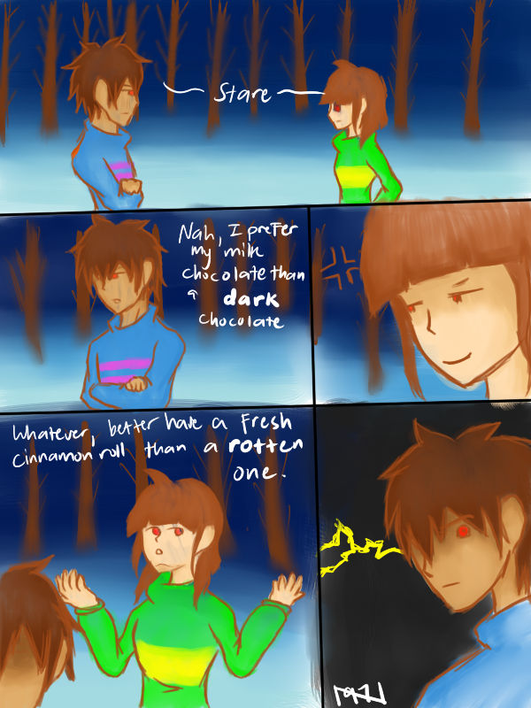 UnderswapFemale Frisk be like and also Chara by Noiseno97