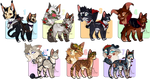 Auction  Halloween Cats  POINTS/PAYPAL  CLOSED