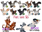 Flat Sale| Cat Adopts 8| POINTS/PAYPAL|CLOSED