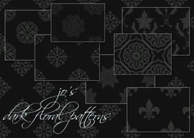 10 Dark Floral PS Patterns by gojol23