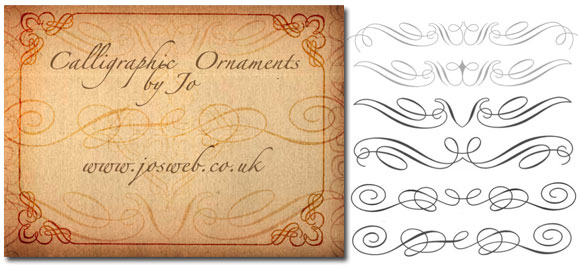 Calligraphic ornaments brushes by gojol on deviantart