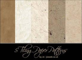 5 tiling paper patterns by gojol23