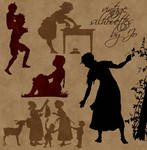 Vintage Vector Silhouettes