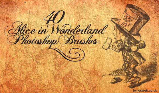 Alice In Wonderland Brushes by gojol23