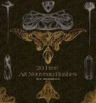 20 Art Nouveau Brushes