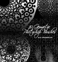 10 Geometric Photoshop Brushes by gojol23