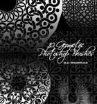 10 Geometric Photoshop Brushes