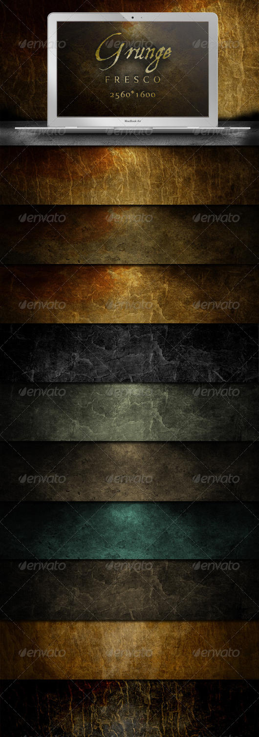 Grunge Fresco Backgrounds by gojol23