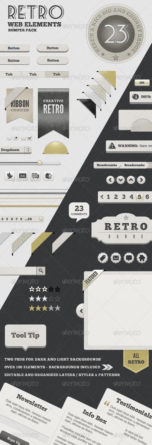 Retro Web Elements by gojol23