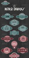 18 Retro Badges - Mix and Match Vintage Labels