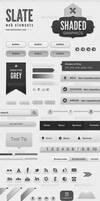 Slate - Shades Of Grey Web Elements