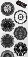Retro Badges - Faded Vintage Labels by gojol23
