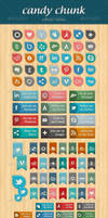 Candy Chunk - Social Network Icons