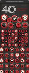 Retro Social Media Icons by gojol23