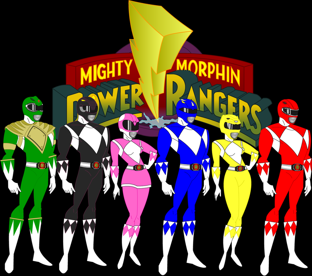 Mighty Morphin Power Rangers Wallpaper: Mighty Morphin Power Rangers Animated By CaptainDutch On