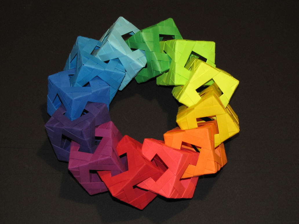 Origami Ring Of Cubes By Razgrizinferno On Deviantart