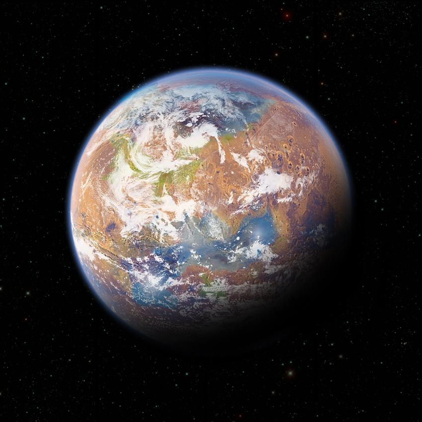 Mars Terraforming: Terraformed Mars By Anderpeich On DeviantArt