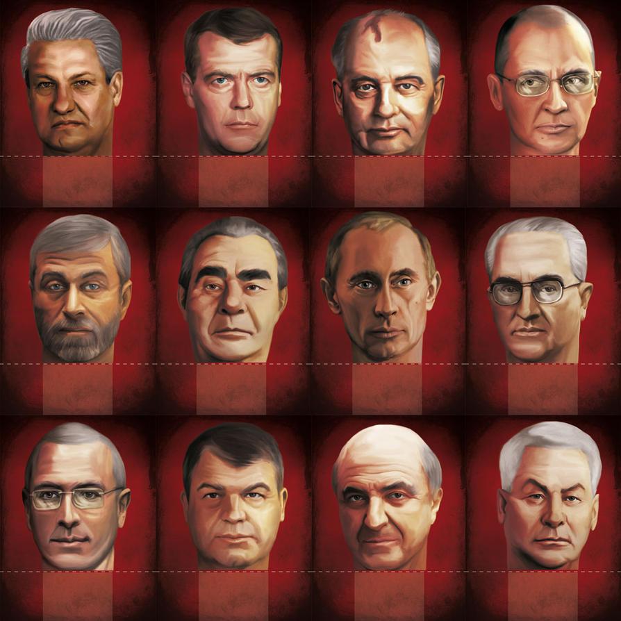 Kremlin Boardgame - Modern Era Heads by anderpeich