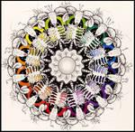 Ram skull Mandala (Color Wheel)