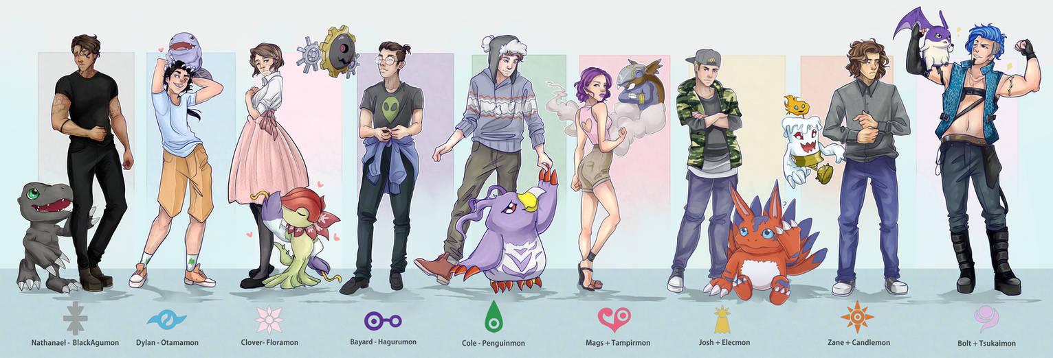 Digimon AU Lineup