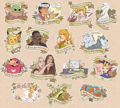 Meme Sticker Set