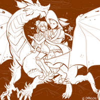 Inktober 12 - Dragon