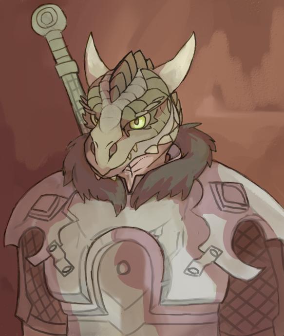 warrior lizard by GreenHuntress1