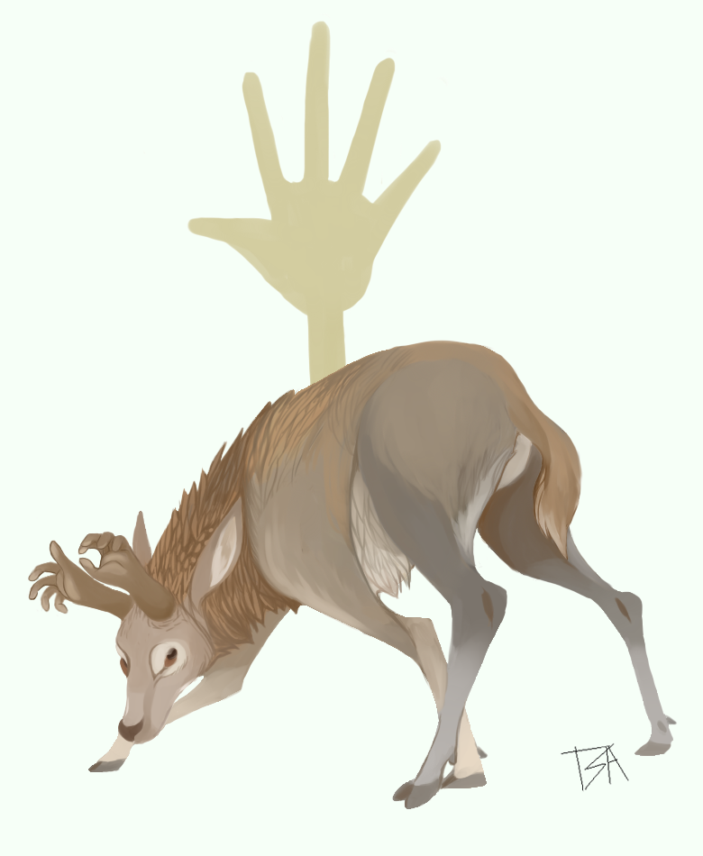 hand deer by GreenHuntress1