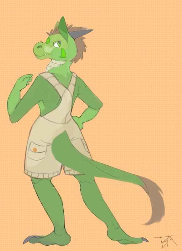 Green Posing by GreenHuntress1