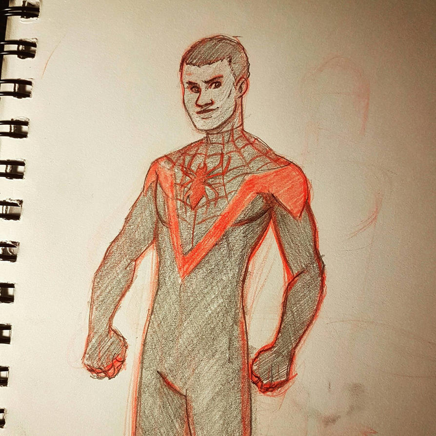 Miles Morales - Sketch by NowhereManArt