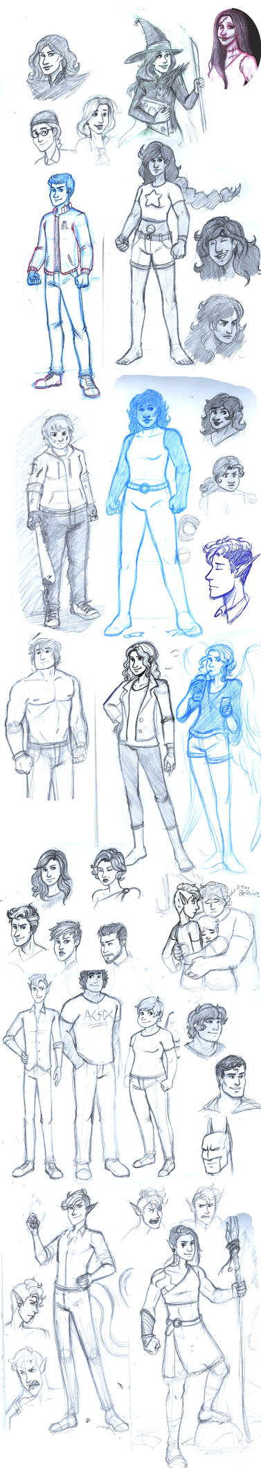 Sketchdump - Late 2016 by NowhereManArt