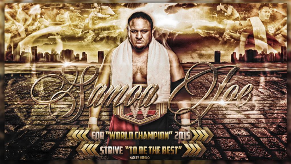 Samoa Joe for WWE Champion 2015 Wallpaper by DS951