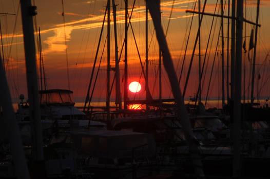 Harbor sunrise