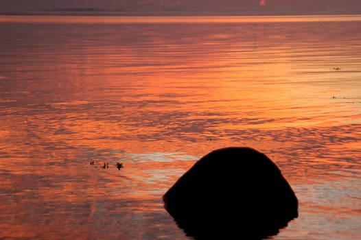Rock at dawn