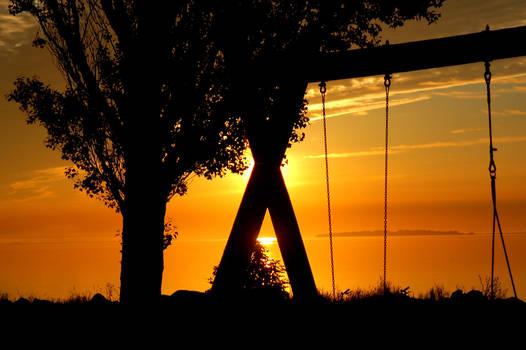Swing at sunrise