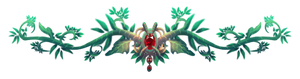 Free to use Vines and Plants Red Gem Divider