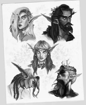 Night Elves sketches