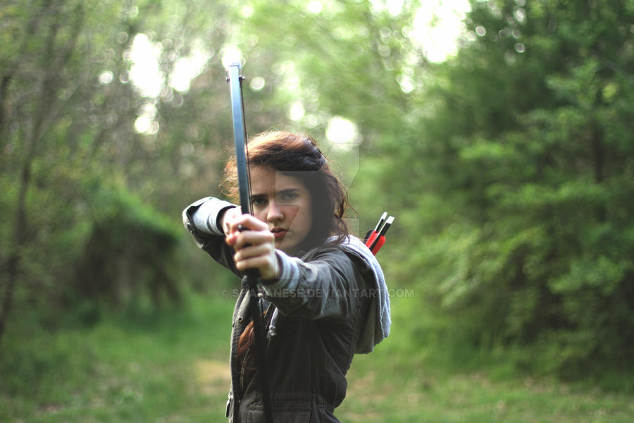 katniss hunting by shapanese on  katniss hunting 2 by shapanese
