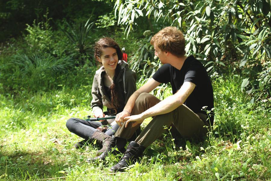 Katniss and peeta by shapanese on deviantart