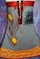 Bowsers Castle Dress Back View by Alien-Phant