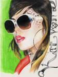 Kat Von D II by SketchbookFlavor