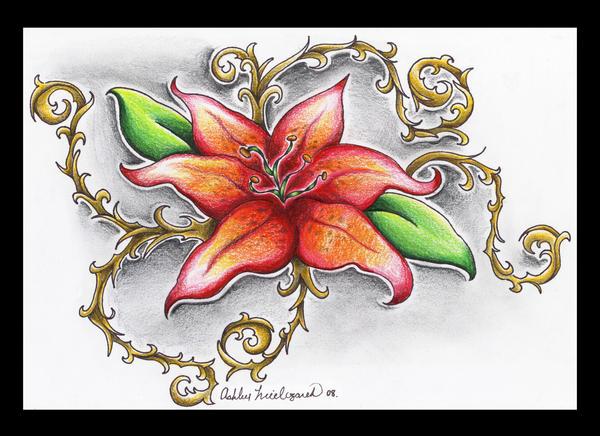 Lily Tattoo Design - flower tattoo