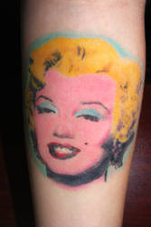 My Marilyn Monroe Tattoo by SketchbookFlavor