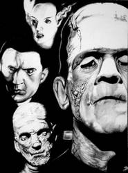 Universal Monsters by SketchbookFlavor