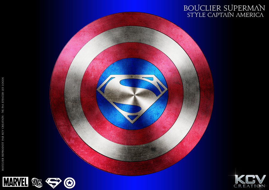 bouclier superman style captain america by kcv80 - Bouclier Captain America