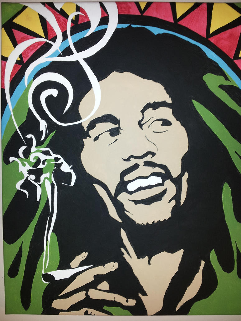 Bob Marley Graffiti Stencil