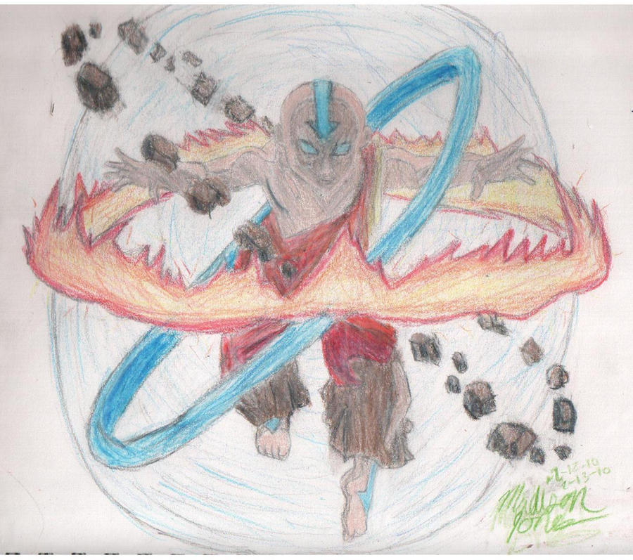 Movie Avatar State Aang: Aang: Avatar State -colored- By Mad-DeeJones On DeviantArt
