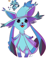 Pokesplice Glaceon And Mistrevious by Riboo