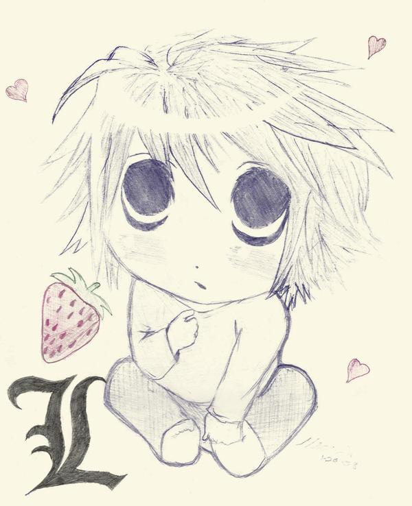 Chibi L - Death Note by musicfreak312