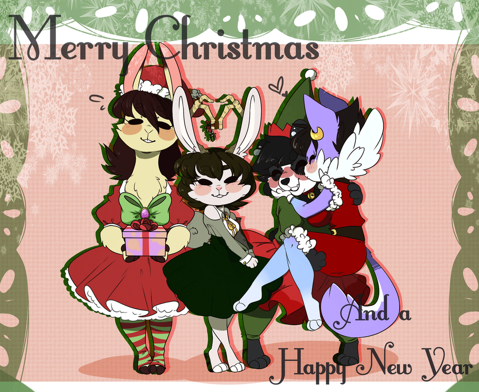 furry christmas card by shifted anubis - Furry Christmas